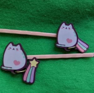 Pusheen bobby pins with shooting star